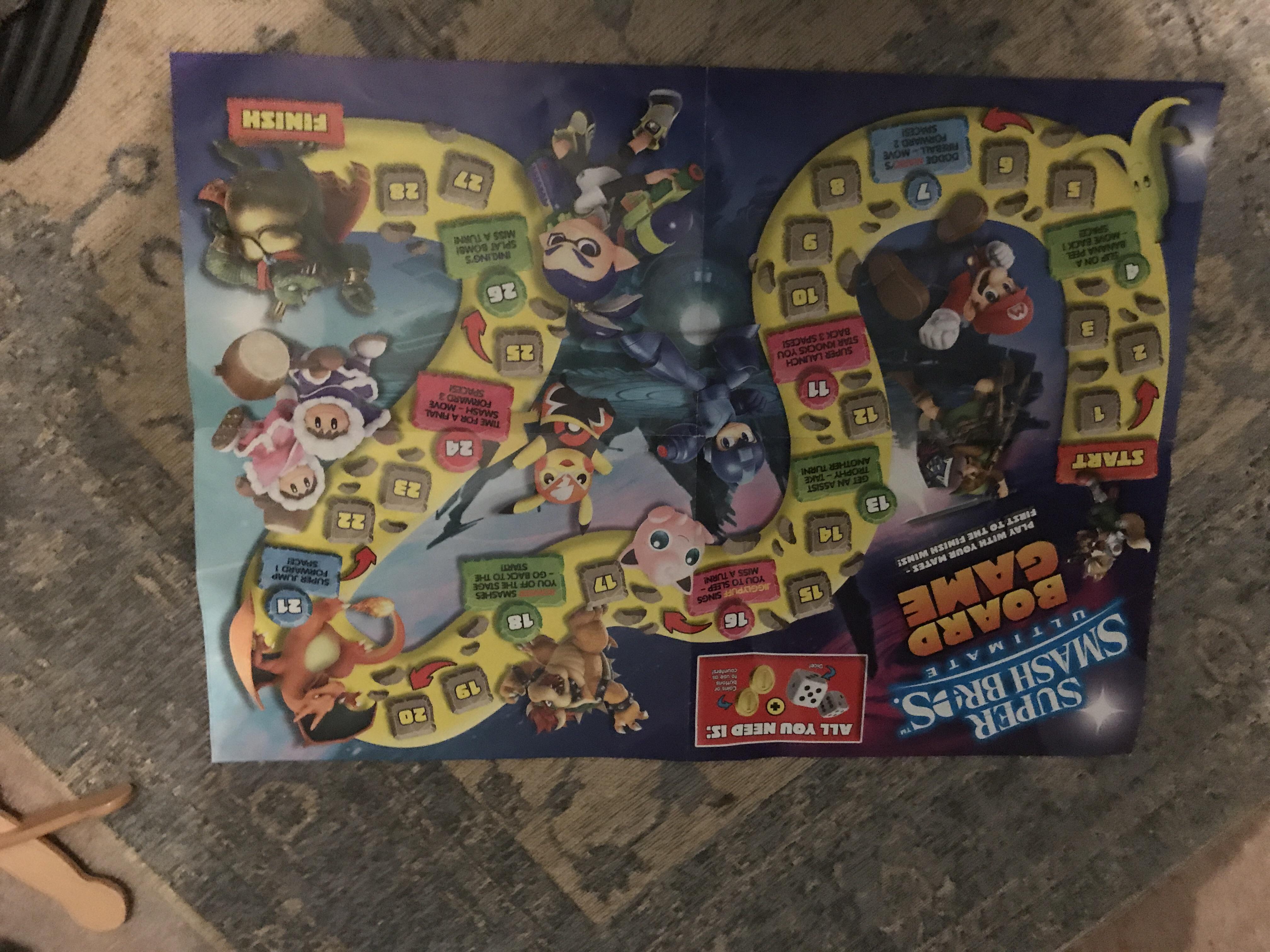 Super Smash Bros Ultimate Board Game (Found 2018 Bootleg Board Game)