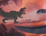 -1 Don Bluth - Original Production Cel + Copy Background + color model