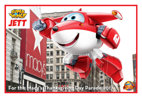 Jett the Airplane from Super Wings Parade Balloon (Proposed Balloon for the 2017 Macy's Parade)
