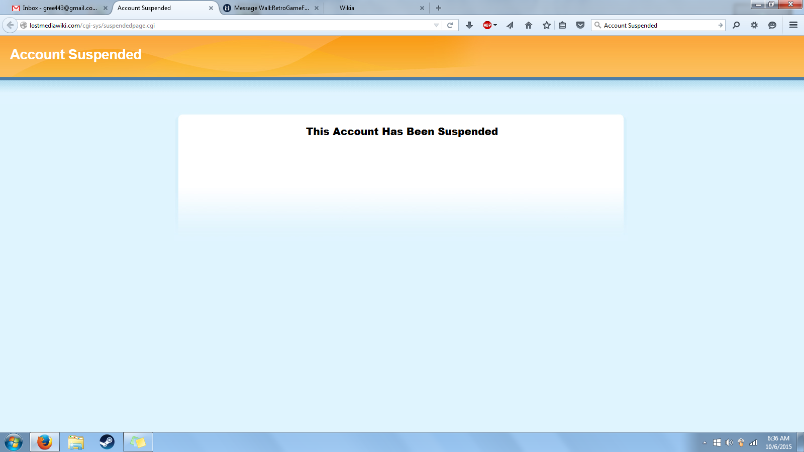 RetroGameFan9000/Why My Account was Suspended in the new wiki?