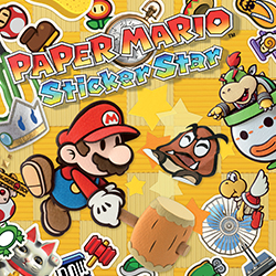 Paper mario sticker star Prototype(Lost early build of 3ds game 2011)