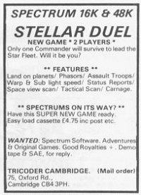 Stellar Duel(lost ZX Spectrum game)