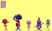 Jelly Jamm Pilot Characters