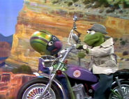 Out to Lunch Kermit motorcycle
