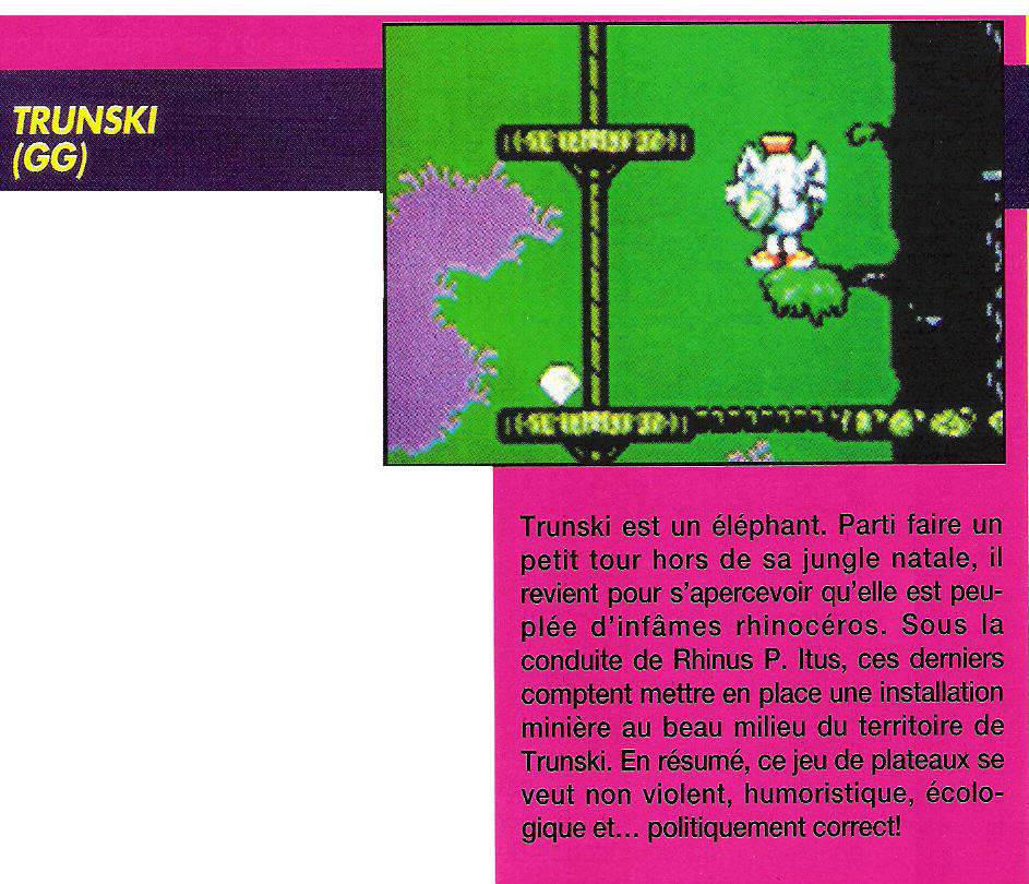 Trunski(cancelled Game Gear game)