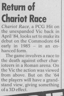 Chariot Race 64(lost C64 game)