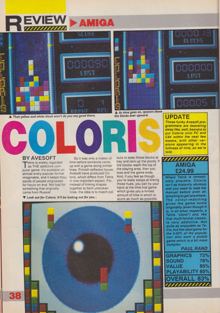 Coloris(lost Commodore 64 port)