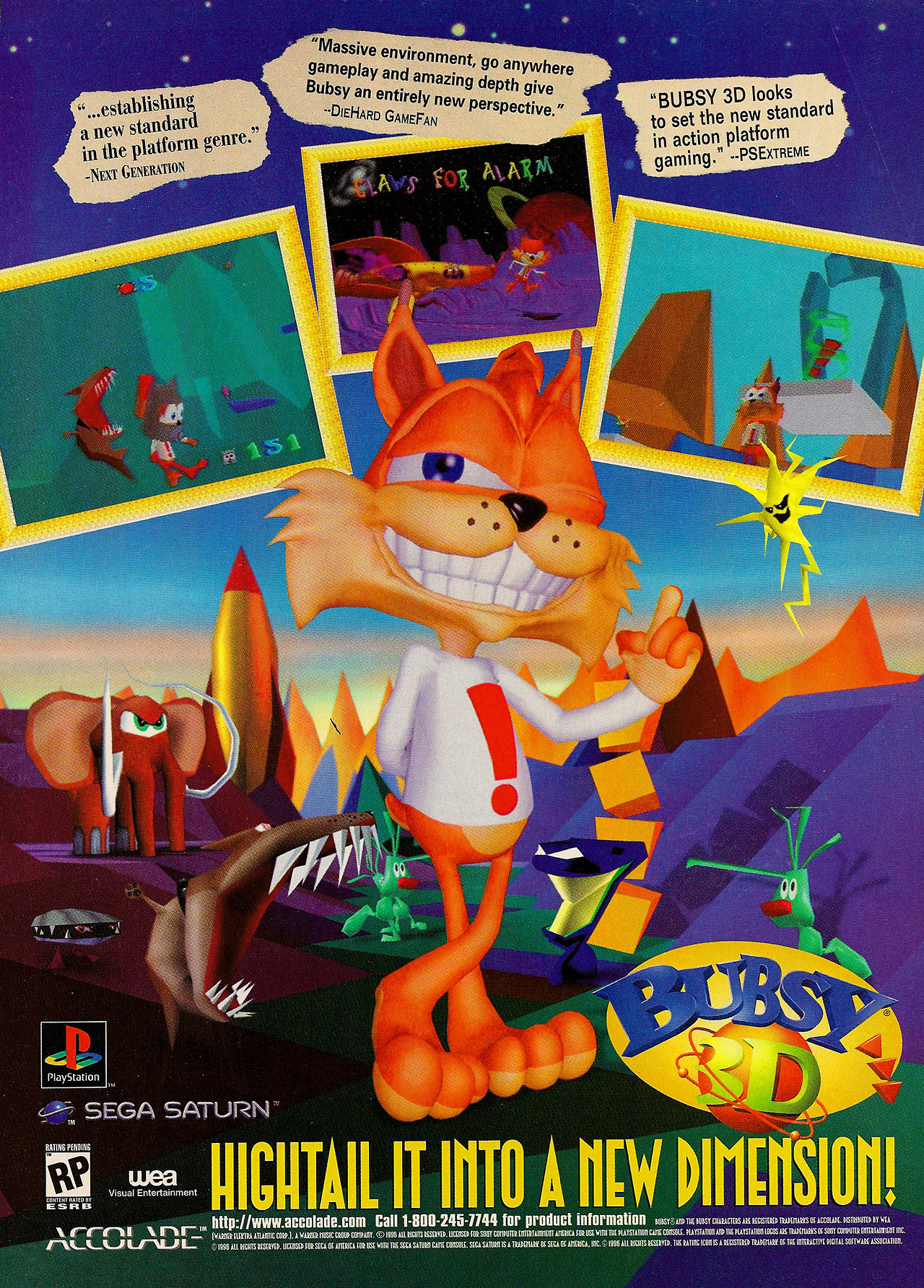 Bubsy 3D (Cancelled Sega Saturn Port)
