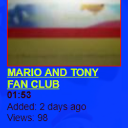 MARIO AND TONY FAN CLUB (Lost SML video; 2008)