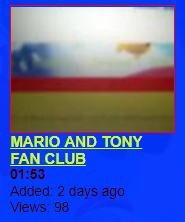 MARIO AND TONY FAN CLUB (Lost SML video; 2008)