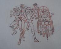 Sailor scouts pencil