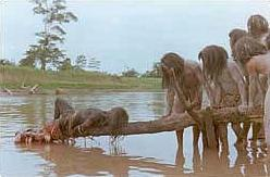 Cannibal Holocaust Unfinished Piranha Scene (1980)