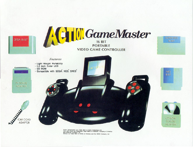 Action Gamemaster (Unreleased 1993 Video Game System and Other Unreleased Active Enterprises Products)