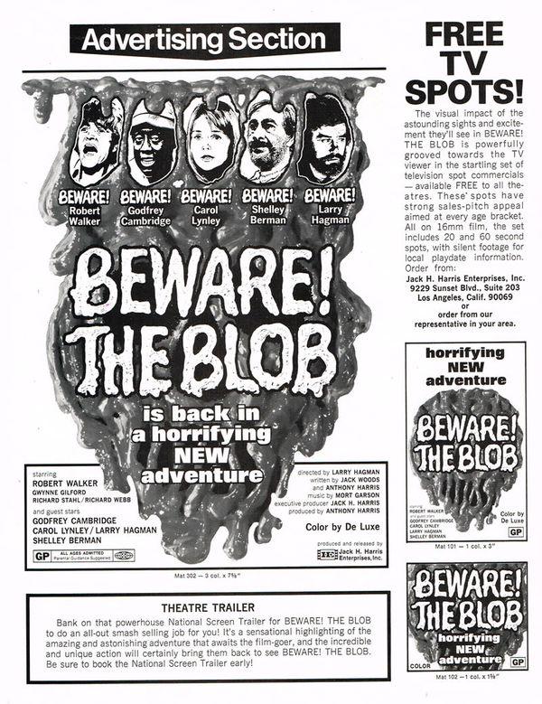 Jeffy08/Beware! The Blob (1972)Television Spot
