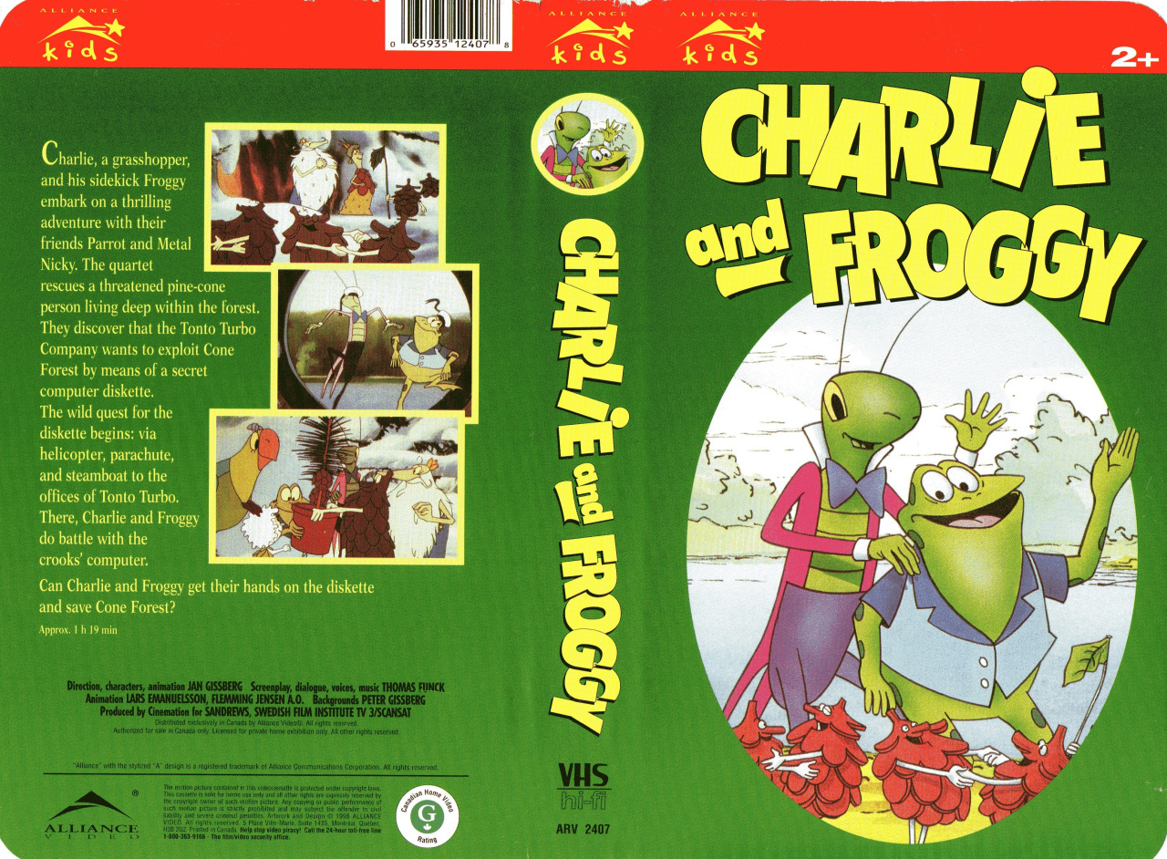 Charlie Strapp and Froggy Ball Flying High (Found Rare 1998 Canadian English Dub)