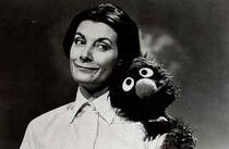 "Jean Marsh and Grover in ""The Grover Monster"""