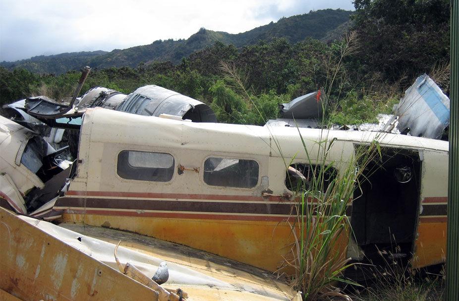 Avion des trafiquants de drogue (décor)