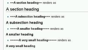 Nested headings