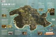 Mapa da ilha superinteressante