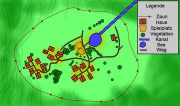 Karte der Baracken