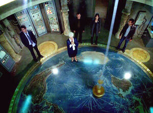 The Foucault pendulum used to find the Island in episode 316.