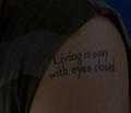 Charlie's tattoo closeup