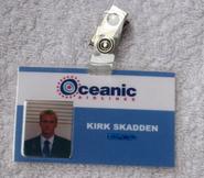 Kirk Skadden Oceanic Airlines staff badge
