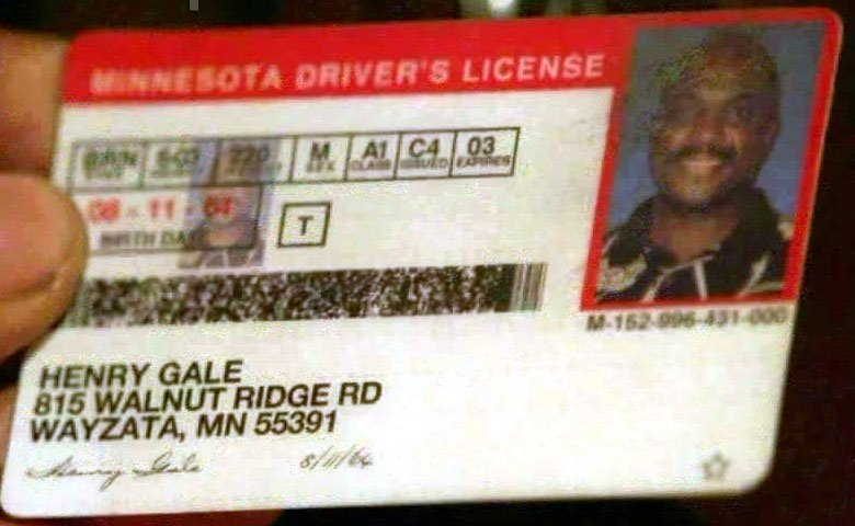 Henry Gale's Driver's Licence