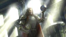 King of Cardolan using the Amon Sul Palantir, the chief stone of the north.JPG