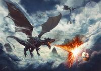 Dan Pilla — Ancalagon against Eärendil.jpg