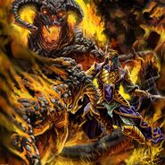 Feanor and balrogs by garyscrosby