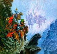 Братство Кольца и армия мёртвых в Стезе Мертвецов