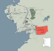 MORDOR location map in middle earth