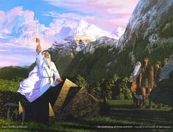 Ted Nasmith — The Oathtaking of Cirion and Eorl (early version)