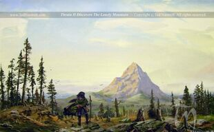 800px-Ted Nasmith - Thrain II Discovers the Lonely Mountain