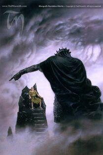 Ted Nasmith — Morgoth punishes Húrin.jpg