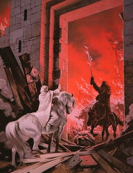 Gandalf and Witch-King by Ted Nesmith