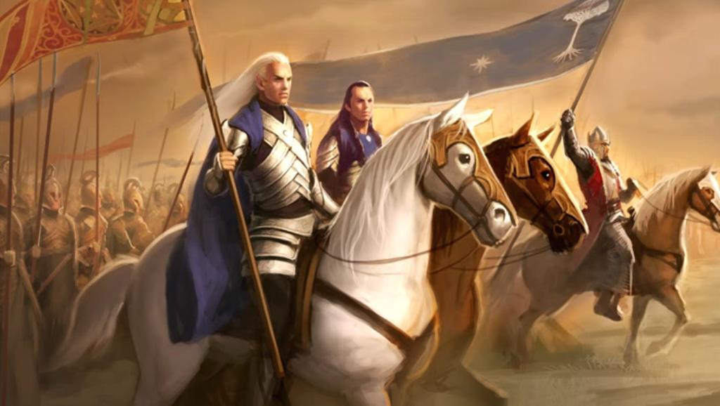Glorfindel, Elrond and King Earnur unite against the Witch-King of Angmar.JPG