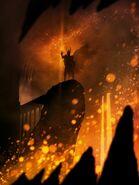 Саурон надел Кольцо в огне Роковой горы