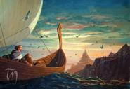 Legolas and Gimli arrive in Valinor