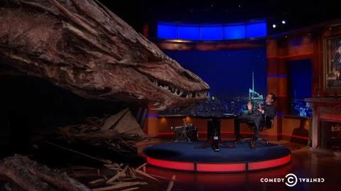 Stephen Colbert's Epic Interview With Smaug The Dragon