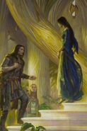 Donato Giancola — Beren and Luthien in the Court of Thingol and Melian