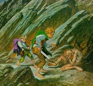 Фродо и Сэм заставляют Голлума провести их в Мордор