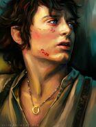 Фродо с Кольцом отдыхает в долине Горгорота