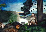 Beren in the wilderness by sarkaskorpikova