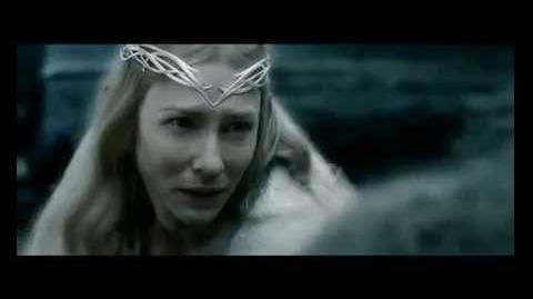 Галадриэль использует фиал в битве с Сауроном и Назгулами.
