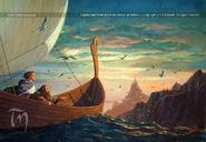 Ted Nasmith — Legolas and Gimli Reach the Shores of Valinor