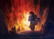 Фродо готовится бросить Кольцо в огонь Роковой горы