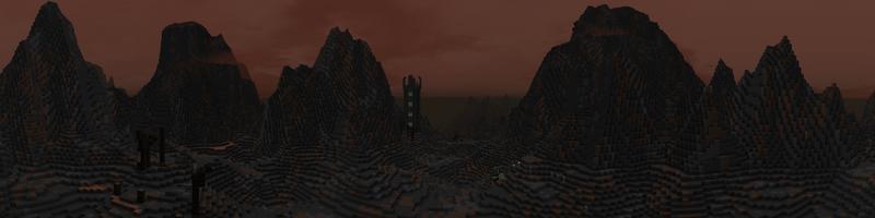 Panorama Mordor Mountains