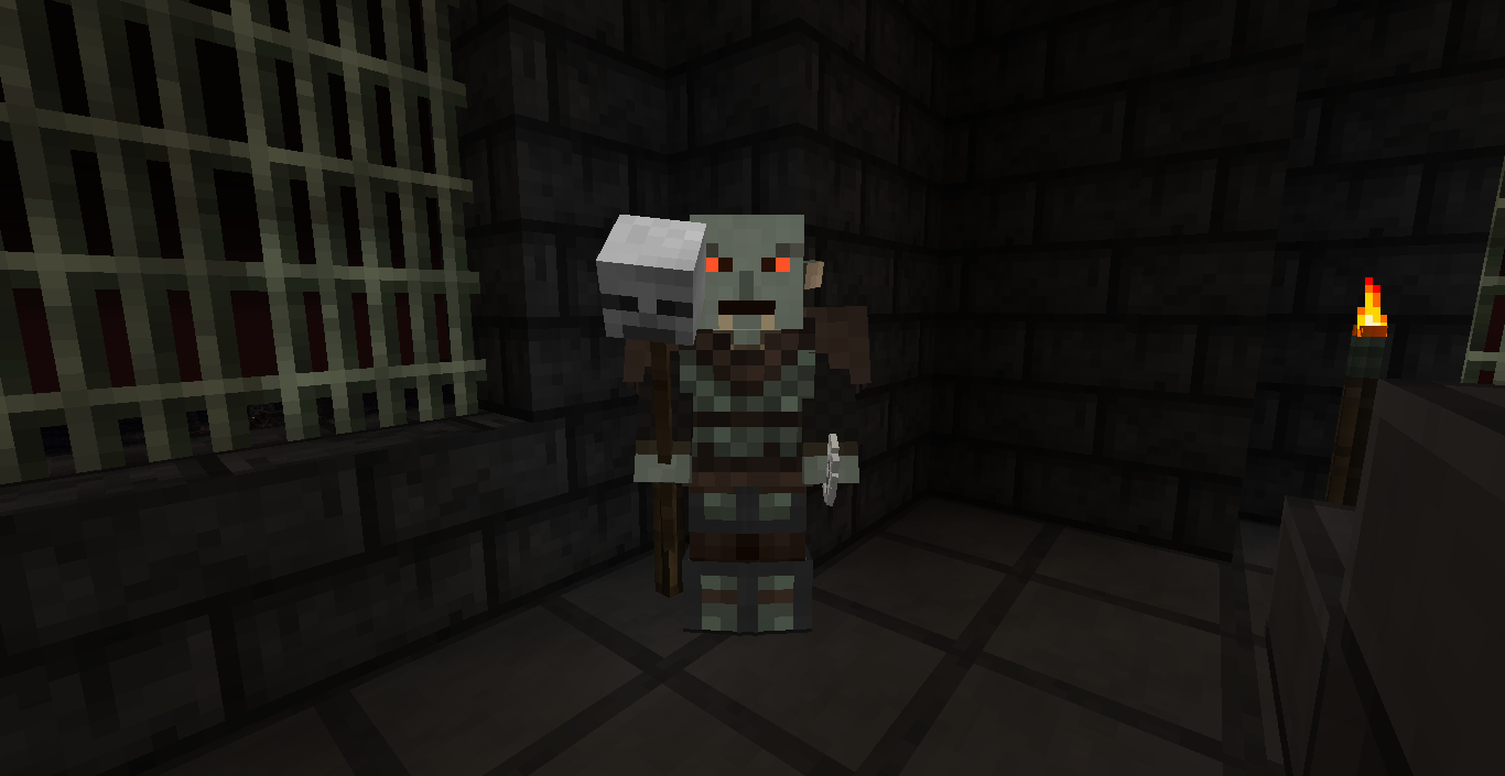 Orc Skull Staff